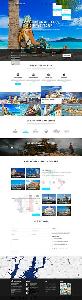Travel Bootstrap template ID: 300111895
