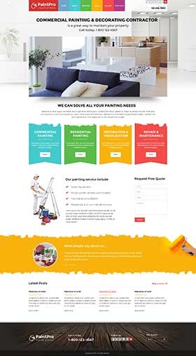 Painter v3.4 Joomla template ID: 300111898