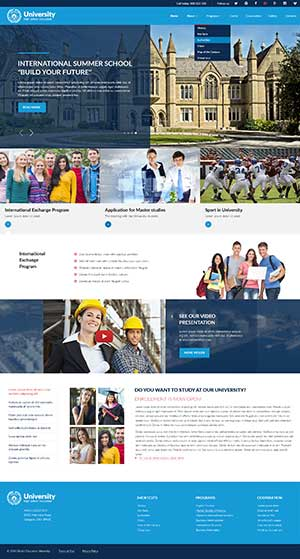 University 3.4v Joomla template ID: 300111900