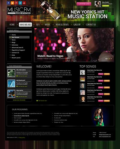 Radio Music FM v3.5 Joomla template ID: 300111904