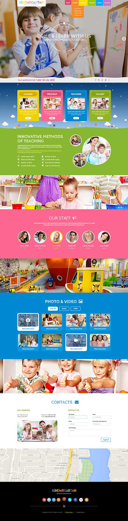 Preschool Theme Wordpress template ID: 300111913