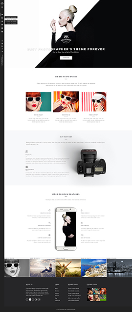 Photographer WP Wordpress template ID: 300111920