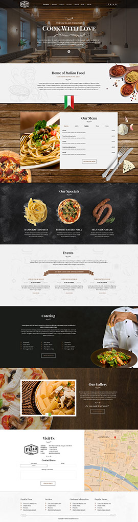 Restaurant templates from bootstrap template italian restaurant wordpress template id 300111921 maxwellsz