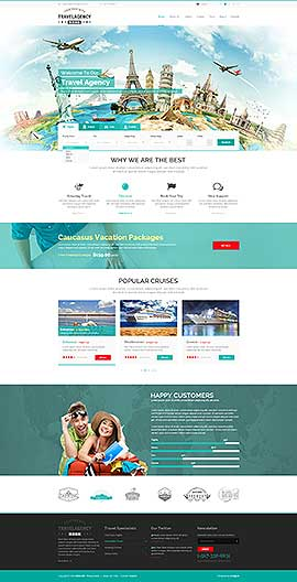 Travel Agency WP Wordpress template ID: 300111922
