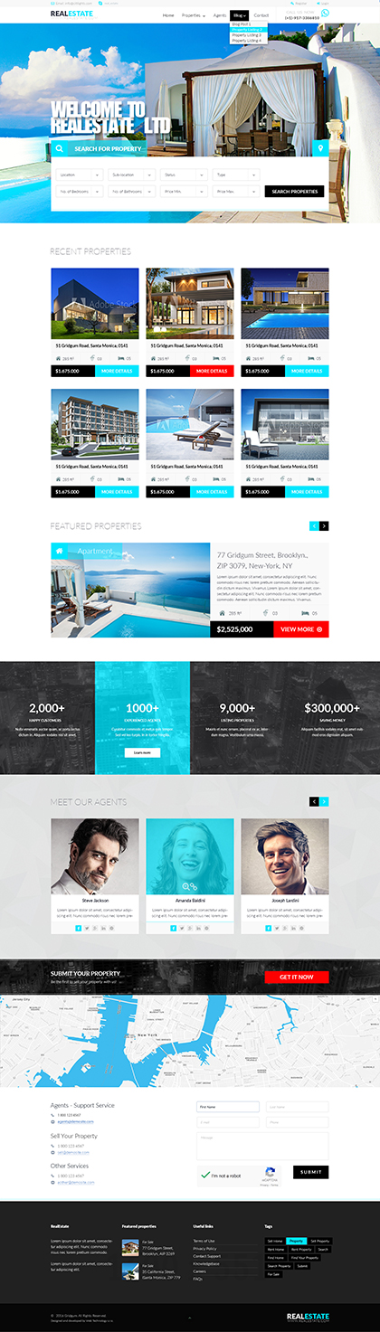 RealEstate Bootstrap template ID: 300111924