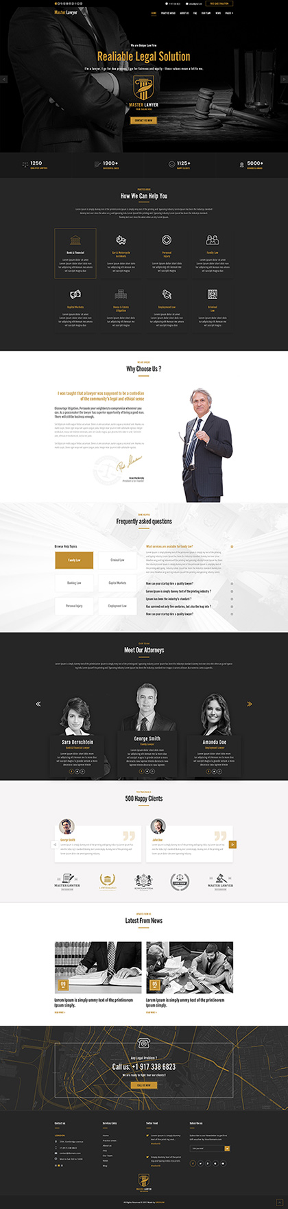 Lawyer Bootstrap template ID: 300111925