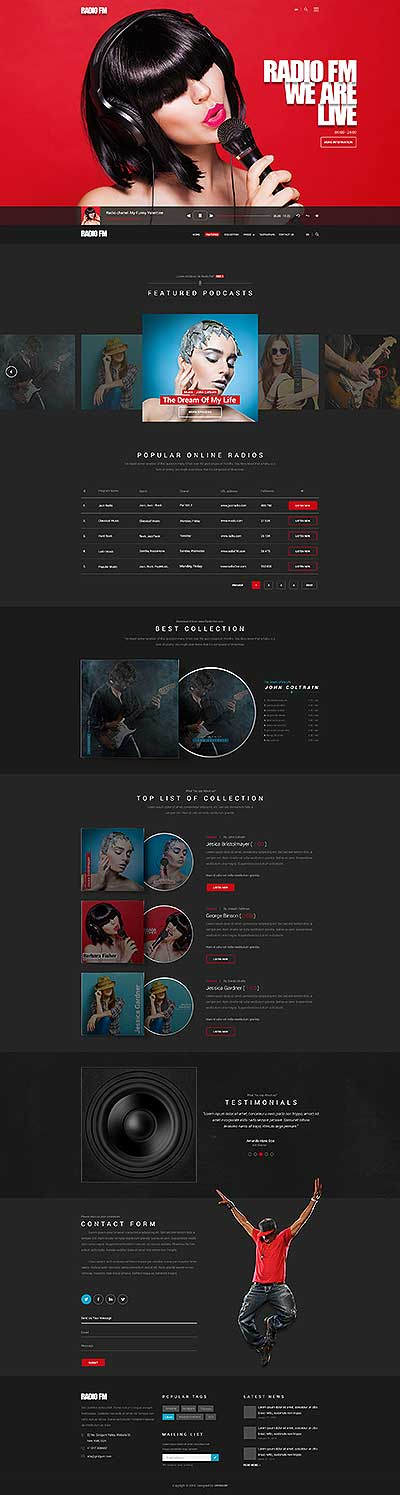 RADIO FM Wordpress template ID: 300111926