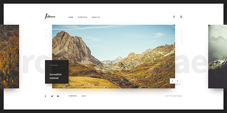 Photographer Bootstrap template ID: 300111927