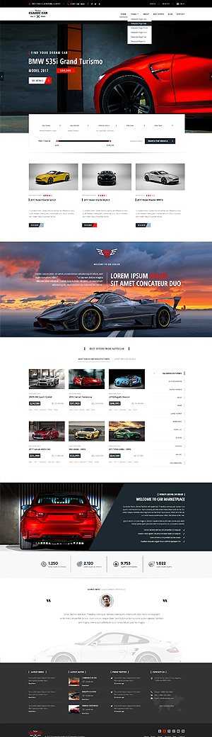 Car Marketplace Bootstrap template ID: 300111928
