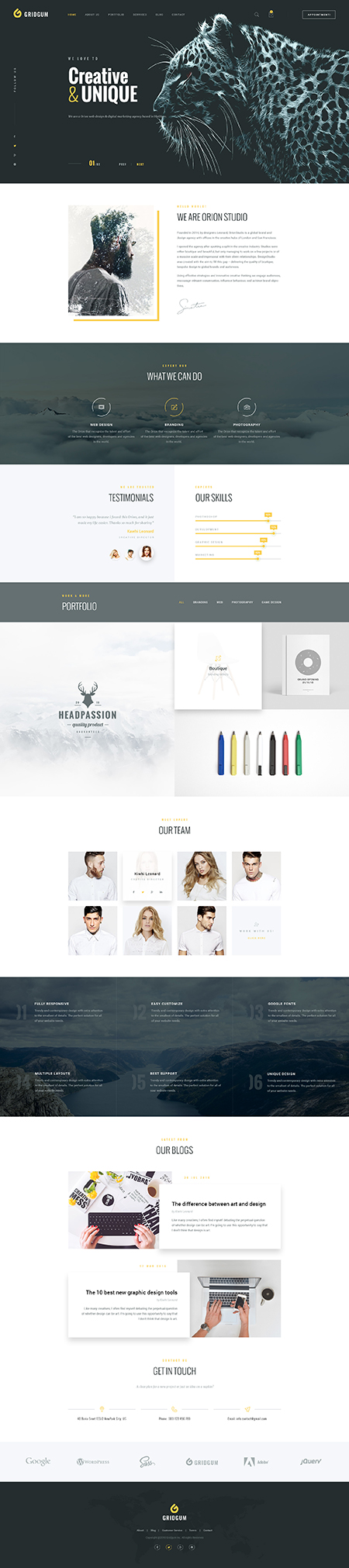 Creative Agency Bootstrap template ID: 300111932