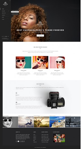 Photographer Bootstrap template ID: 300111935