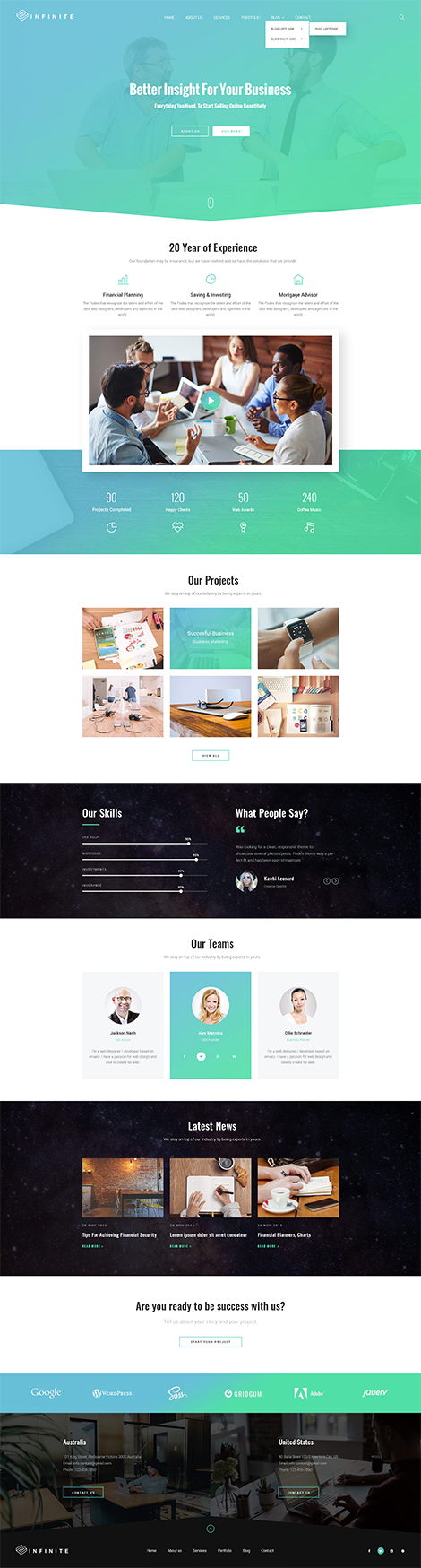 Infinity - Multipurpose Bootstrap template ID: 300111936