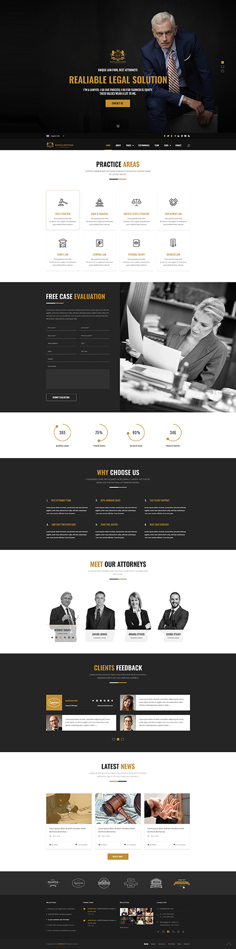 Kinglaw bootstrap 4 Bootstrap template ID: 300111937
