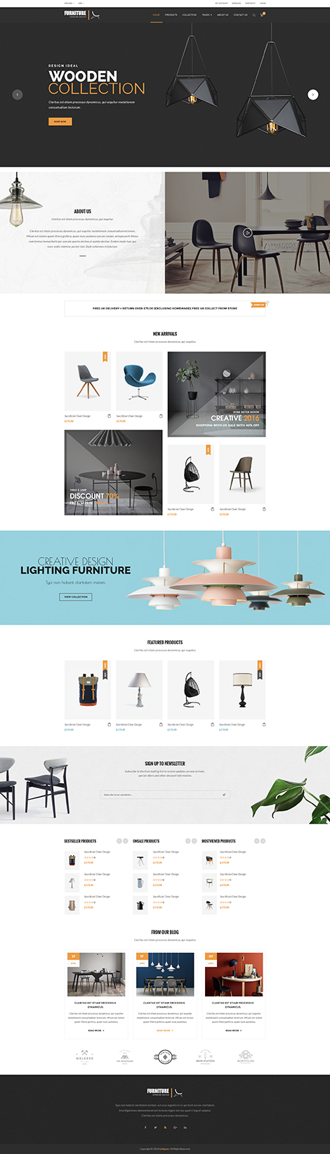 Furniture store Bootstrap template ID: 300111938