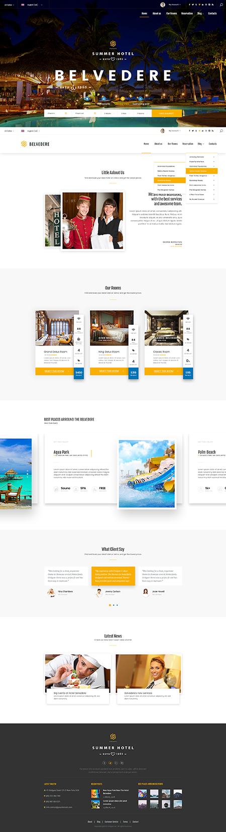 Hotel Belvedere Bootstrap template ID: 300111939
