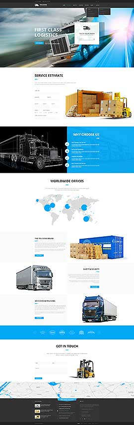 Transportation WP Wordpress template ID: 300111942