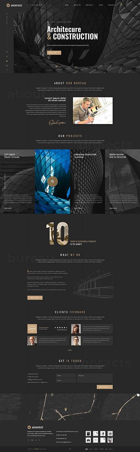 Architecture bureau Bootstrap template ID: 300111944