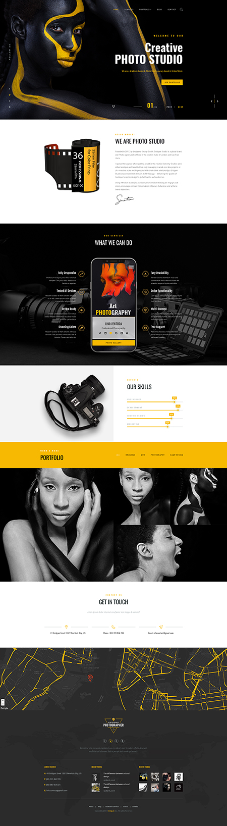 Photography theme Bootstrap template ID: 300111945