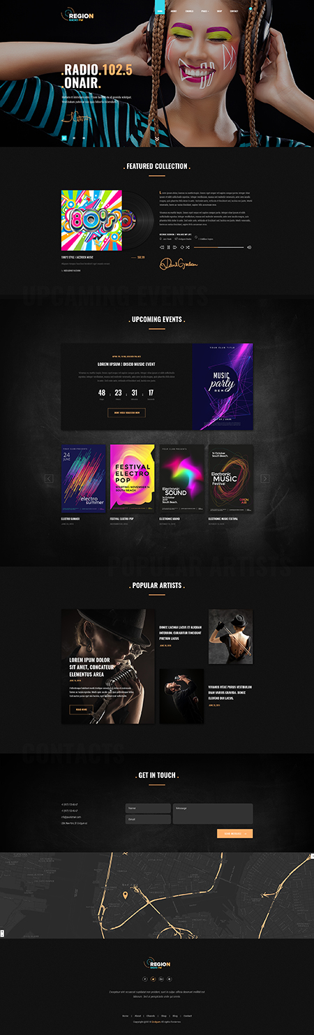Reg Radio Bootstrap 4 Bootstrap template ID: 300111946