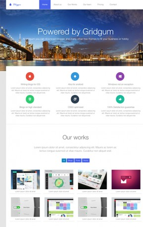 Blogger free theme Free Bootstrap template ID: 33