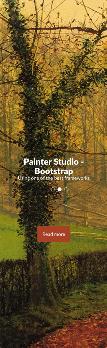 Painter Portfolio Free Bootstrap template ID: 35