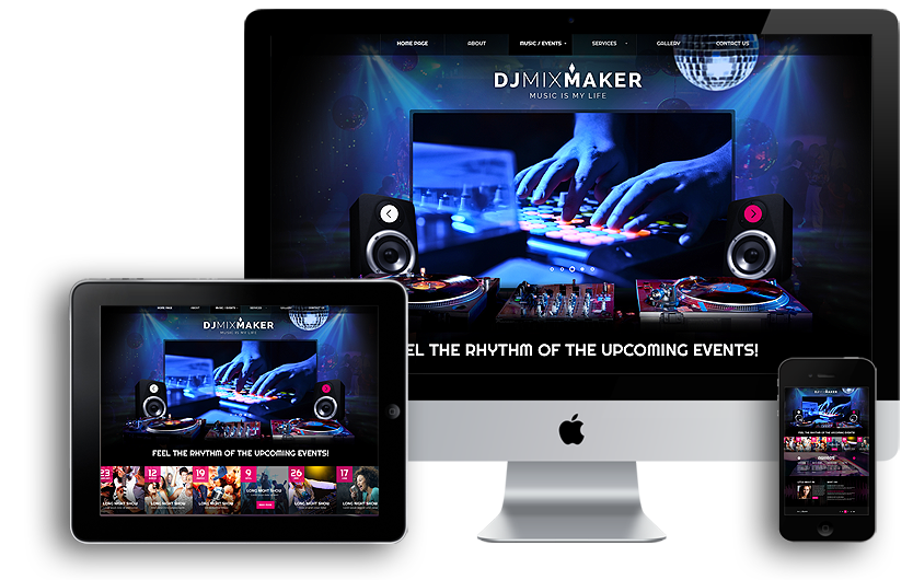 DJ Music mobile responsive bootstrap template
