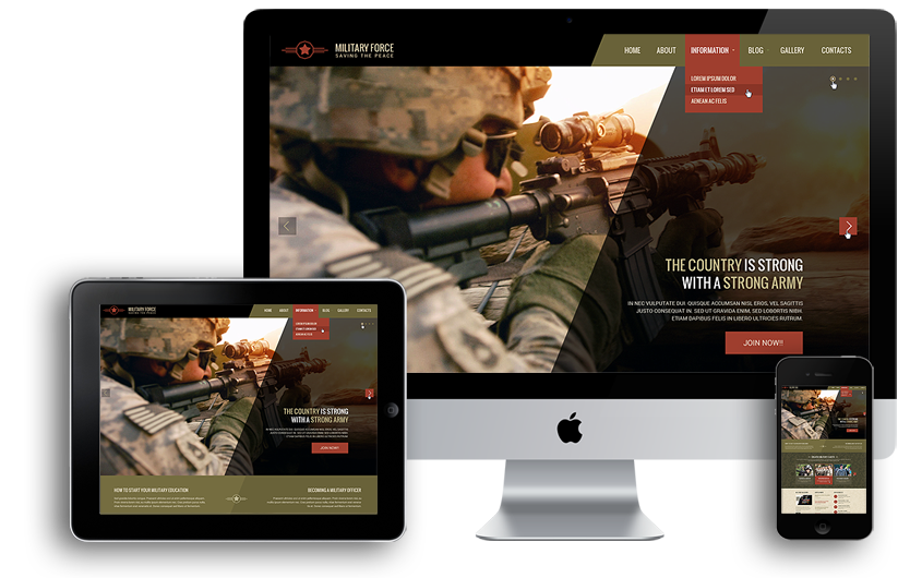Mobile responsive military academy template
