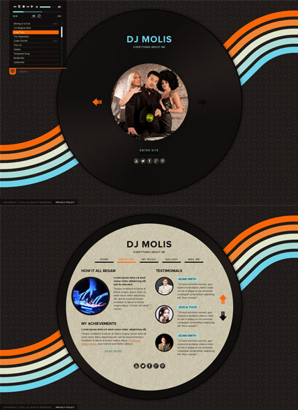 DJ Page HTML5 template ID:300111586