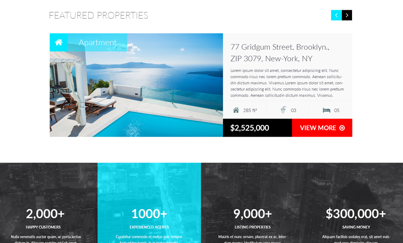 RealEstate Bootstrap template ID:300111924 Slide 1