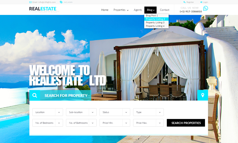 RealEstate Bootstrap template ID:300111924