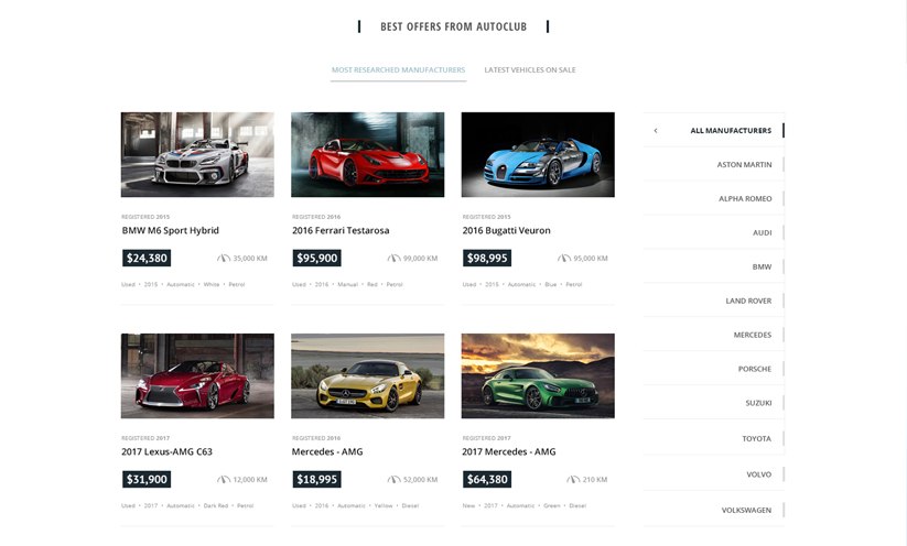 Car Marketplace Bootstrap template ID:300111928 Slide 2
