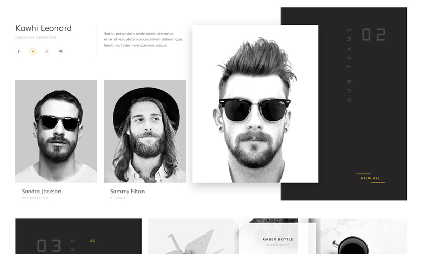 Creative studio Bootstrap template ID:300111929 Slide 2