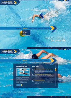 Water Polo HTML5 template ID: 300111386