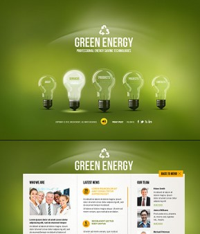 Green Energy HTML5 template ID: 300111457