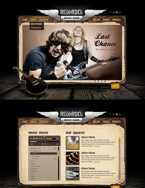 Rock Band HTML5 template ID: 300111469