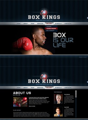 Boxing Club HTML5 template ID: 300111500