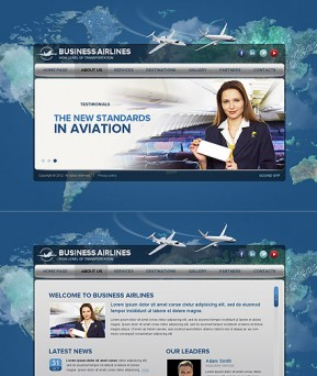 Business Airlines HTML5 template ID: 300111506