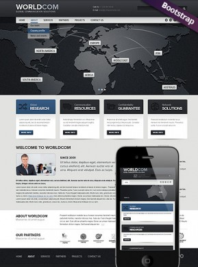 World Business Bootstrap template ID: 300111583