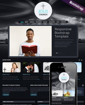 Church Bootstrap template ID: 300111588