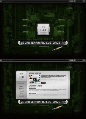 Electronic repair HTML5 template ID: 300111594