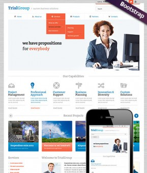 Business Company Bootstrap template ID: 300111595