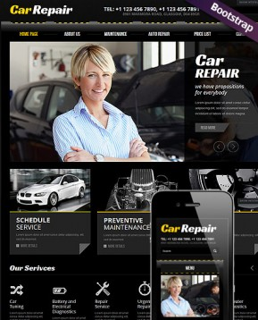 Car Repair Bootstrap template ID: 300111602