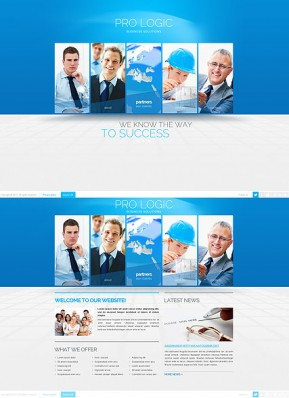 Blue Business HTML5 template ID: 300111643