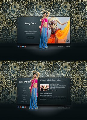 Belly Dance HTML5 template ID: 300111650