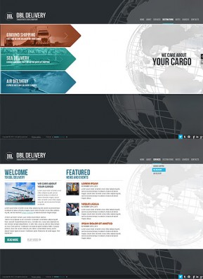 Delivery Company HTML5 template ID: 300111655