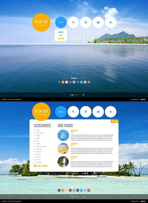 Travel agency HTML5 template ID: 300111659