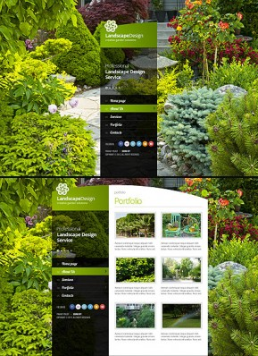 Landscape designing HTML5 template ID: 300111661