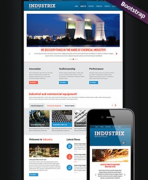 Heavy Industry  Bootstrap template ID: 300111726