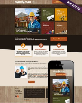 Handyman Service Bootstrap template ID: 300111746