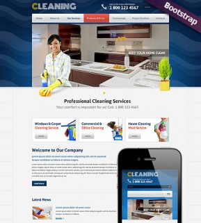 Cleanin Bootstrap template ID: 300111750
